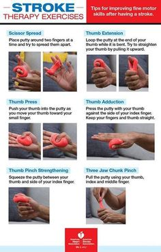Tips for improving fine motor skills after having a stroke (Preperatory activity) Geriatric Occupational Therapy, Occupational Therapy Assistant, Occupational Therapy Activities, Stroke Therapy, Ot Therapy, Physical Therapy, Therapy Putty, Therapy Ideas, Theraputty Exercises