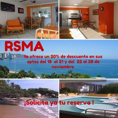 Oferta 20% descuento en alojamiento apartamentos del 18 al 21 y del 22 al 28 de noviembre 2014 - El Rodadero (Santa Marta - Colombia). www.youtube.com/c/Rodaderosantamartaapartamentos-RSMA, www.facebook.com/RodaderoSantaMartaApartamentos, twitter.com/RSMApartamentos, plus.google.com/+Rodaderosantamartaapartamentos-RSMA, www.linkedin.com/company/apartamentossantamartarodadero #Rodadero #SantaMarta #Hotel #Turismo #Alojamiento #Alquiler #Arriendo #Colombia #ParqueTayrona