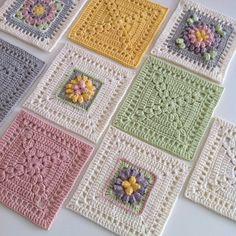 Transcendent Crochet a Solid Granny Square Ideas. Inconceivable Crochet a Solid Granny Square Ideas. Crochet Motifs, Granny Square Crochet Pattern, Crochet Flower Patterns, Crochet Chart, Crochet Squares, Crochet Blanket Patterns, Knitting Patterns, Granny Squares, Crochet Bedspread