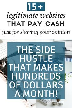 Make extra money by taking online surveys. Make hundreds of dollars a month and get paid cash, right into your PayPal account. This is a legit #sidehustle that makes money every single day. #makemoneyonline #earncashfast
