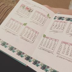 Bullet journal, yearly spread starting May