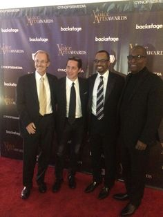 Voice Arts Awards honoring James Earl Jones in New York City with John Florian, Jeffrey Umberger, Rudy Gaskins, and Rodney Saulsberry Talent Agent, Earl Jones, Arts Award, Suit And Tie, New York City, The Voice, Awards, Movie Posters, Movies
