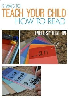 How to Teach Your Child to Read - Tips to help your kids learn how to read from an elementary school teacher! Give Your Child a Head Start, and...Pave the Way for a Bright, Successful Future...