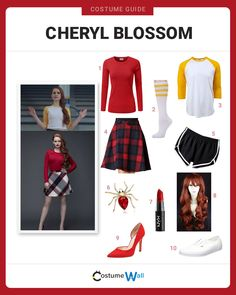 Rule your high school like a queen, dressed as Riverdale High School's ultimate mean girl Cheryl Blossom. Dresses For Teens, Outfits For Teens, Cool Outfits, Fashion Outfits, Cheryl Blossom Riverdale, Riverdale Cheryl, Carrie Halloween Costume, Halloween Outfits, Halloween 20