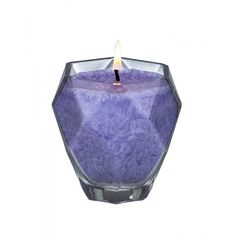 Amethyst Jewel Glass Candle.