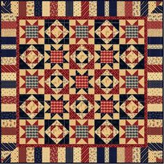 americana quilt patterns | Free Pattern – American Patriot Quilt + Fabric from Marcus Fabrics ...