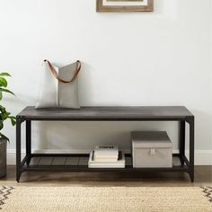 Entry Bench, Entry Foyer, Low Shelves, Storage Shelves, Ikea Entryway, Put On Your Shoes, Loft, Foyer Decorating, Storage Baskets
