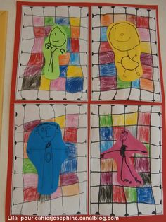 In het net Kindergarten Art, Preschool Art, Art 2nd Grade, Classe D'art, Art Classroom, Art Activities, Teaching Art, Elementary Art, Nursery Art
