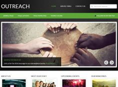 Outreach - has 6 layout options and 4 color schemes