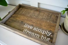 Beautiful!  Large Ottoman Tray Serving Tray Coffee by JoaniesFavoriteThing $42