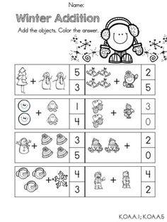 Worksheets Common Core Math Worksheets For Kindergarten kindergarten winter math worksheets common core aligned aligned