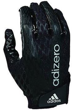 adidas adiZERO 4.0 Adult Football Receiver's Gloves, Black/Black, 3X-Large