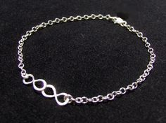 Infinity Symbol Silver Anklet Duo Forever by PatricianCrystals