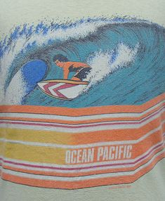 Vintage 1988 Ocean Pacific surfing t shirt by retropopmanila, $39.99