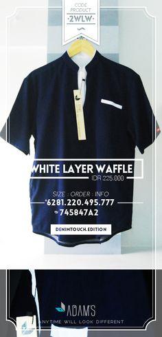 Baju Muslim Pria / Baju Koko Modern Adam's (White Layer Waffle) | Order : 081220495777 (WA,SMS,CALL), 745847A2 (BBM) | Alamat Outlet : JL Sawah Kurung IV No.18B (Daerah Ciateul/Moch Ramdan) Bandung