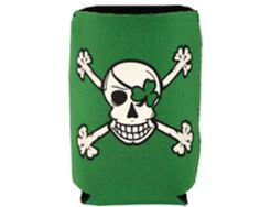 Neoprene can cooler. Holds 12 ounce cans and 16 ounce water bottles.