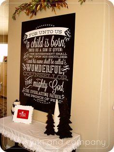 Seriously LOVING this big Christmas print by @Kiki Comin {www.kikicomin.com}! #christmas #decorations