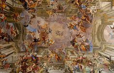 Triumph of St. Ignatius of Loyola by Andrea Pozzo. Ceiling of Sant'Ignazio, Rome, Italy