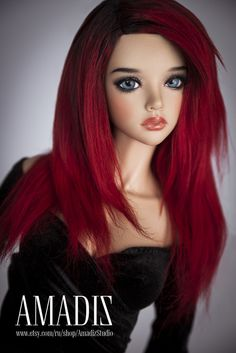 https://flic.kr/p/GVcgSG | Wanda | Our new wig of alpaca for bjd available for order on our Etsy Shop!   www.etsy.com/ru/listing/273493062/wanda-natural-alpaca-wi...  Free shipping.  Beautiful long hairs for your doll. Unisex hairstyle. Bright red straight hair with dark roots.  The wig has an elastic cap of white color with an elastic band, that you don't need a silicone cap.  ~ Our wigs are versatile, they are suitable for many dolls with a similar head size! ~
