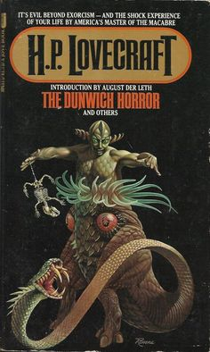 The Dunwich Horror by H. P. Lovecraft. Cover art by Rowena Morrill, 1978.