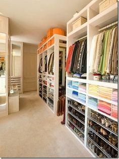 Great organized closet inspiration!