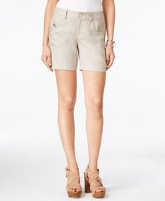 INC International Concepts Linen Shorts, Only at Macy's | macys.com