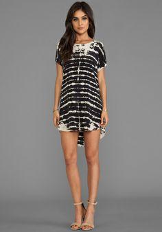 GYPSY 05 Short Sleeve Scoop Back Dress in Noir - New