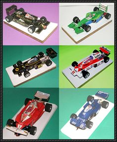 F1 Paper Model - 6 Slot Car Papercrafts Free Download - http://www.papercraftsquare.com/f1-paper-model-6-slot-car-papercrafts-free-download.html