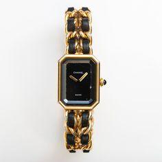 Chanel Ladies' Premiere Watch In Black & Gold.