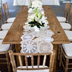 Ooh! Events Rentals Lace Doily Runner | Creative wedding planning and event rentals in Charleston, SC and Beaufort, Bluffton, Savannah, Debo...