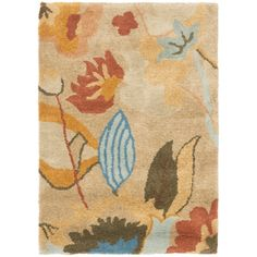 Safavieh Handmade Soho Flora Beige New Zealand Wool Rug (2' x 3') , Size 2' x 3' (Cotton, Floral)