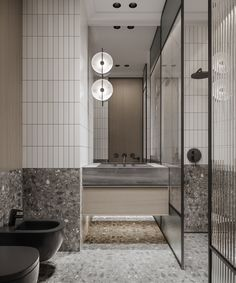 Bathroom Design Small, Bathroom Interior Design, Modern Bathroom, Bathroom Toilets, Laundry In Bathroom, Washroom, Terrazzo, Restroom Design, Bath Cabinets