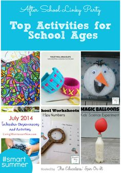 Top School Age Activities for Summer via The Educators' Spin On It