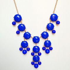 Cobalt Blue Bubble Necklace $30