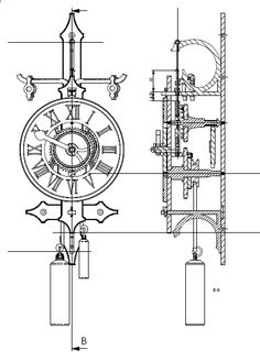 free wooden clock plans dxf