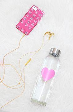 Valentine's DayDIY heart water bottles
