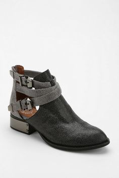 Jeffrey Campbell Everly Tonal Block Cutout Ankle Boot