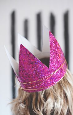 Glitter birthday crowns