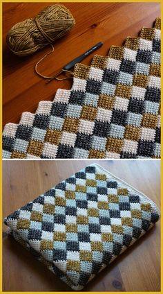 Most current Pictures Crochet afghan tutorials Thoughts Entrelac Blanket – Free Crochet Pattern (Schöne Fähigkeiten – Häkeln Stricken Quilten) – H Knitting Stitches, Free Knitting, Knitting Patterns Free, Crochet Baby, Knit Crochet, Crochet Afghans, Crotchet, Crochet Squares, Crochet Style