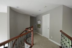 Sherwin Williams Mindful Gray.   It's a very pretty grey.  The space we painted is large and the color changes throughout the day.  It's a bit green-grey at times.  A little clay-like at others.  And sometimes it looks like a pretty true grey.  June 2014.