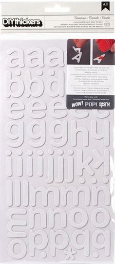 American Crafts - Thickers - DIY - Foam Alphabet Stickers - Cinnamon at Scrapbook.com $4.99