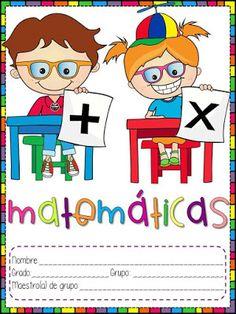 19 portadas para primaria y preescolar Preschool Learning, Kindergarten Activities, Teaching Math, Minnie Mouse Party, Mouse Parties, Classroom Labels Free, Go Math, School Notebooks, My Teacher