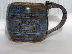 Handmade Pottery Stoneware Coffee Mug by PotteryLaceNautical