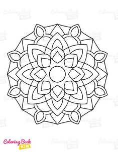Simple and easy-to-color mandala patterns for kids. The perfect coloring book to start a coloring adventure for kids. Easy Coloring Pages, Mandala Coloring Pages, Coloring For Kids, Coloring Books, Mandala Design, Mandala Pattern, Mandala Simple, Mandalas For Kids, Tapestry