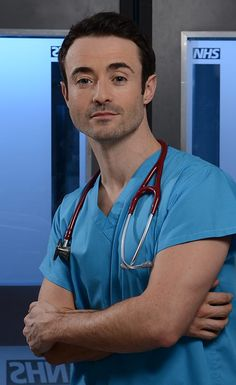 "Born: October 1975 ~ Joseph ""Joe"" McFadden is a Scottish actor, best known for his roles in Take the High Road, Heartbeat and Raf Di Lucca in Holby City. Hospital Tv Shows, City Hospital, Scottish Actors, British Actors, Bbc Casualty, Holby City, Medical Drama, Bbc One, Television Program"