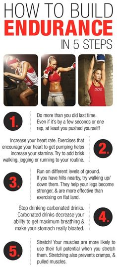 How to Build Endurance in 5 steps!