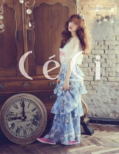 Youngji is sweet and girly in 'CeCi' magazine