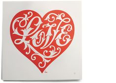 house industries: english love heart print