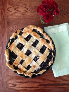 A delicious, flaky pie crust with a lattice top, filled with a wild blueberry filling. Lattice Top, Wild Blueberries, Basil, Blueberry, Pie, Desserts, Food, Torte, Tailgate Desserts