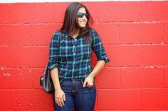 Thrift Challenge No. 9: Autumn Plaid, green plaid